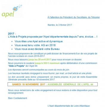 Capture Aide à Projets 2016-2017